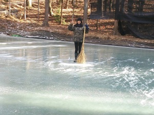 天然氷の掃除