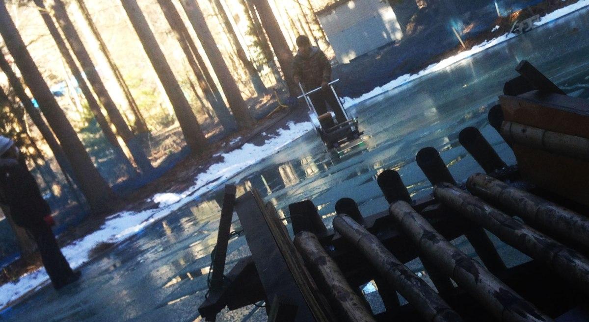 画像: 天然氷ができるまで 蔵元八義